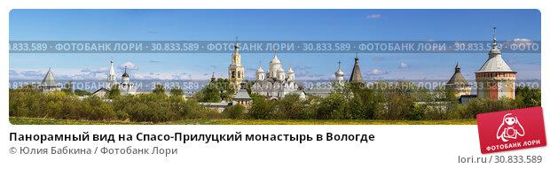 Купить «Панорамный вид на Спасо-Прилуцкий монастырь в Вологде», фото № 30833589, снято 17 мая 2019 г. (c) Юлия Бабкина / Фотобанк Лори