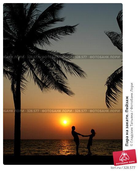 Пара на закате. Пейзаж, фото № 328577, снято 23 июля 2017 г. (c) Гладских Татьяна / Фотобанк Лори