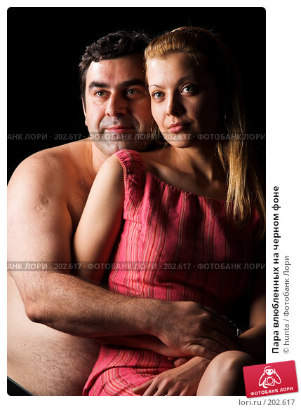Пара влюбленных на черном фоне, фото № 202617, снято 1 августа 2007 г. (c) hunta / Фотобанк Лори