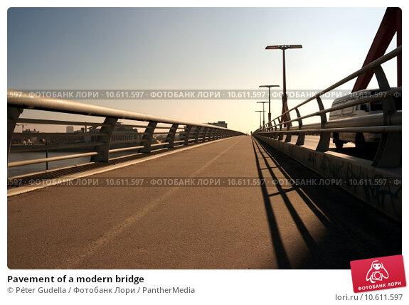 Pavement of a modern bridge. Стоковое фото, фотограф Péter Gudella / PantherMedia / Фотобанк Лори