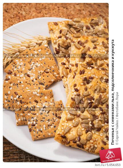 Печенье с семечками и семенами льна