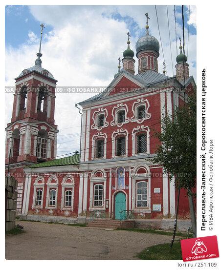Купить «Переславль-Залесский, Сорокосвятская церковь», фото № 251109, снято 6 июля 2006 г. (c) ИВА Афонская / Фотобанк Лори