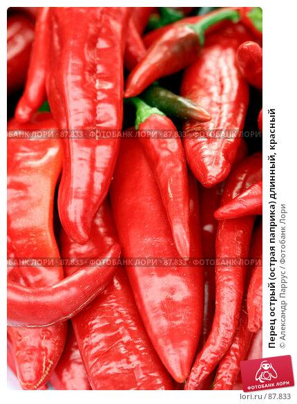 Перец острый (острая паприка) длинный, красный, фото № 87833, снято 8 сентября 2007 г. (c) Александр Паррус / Фотобанк Лори