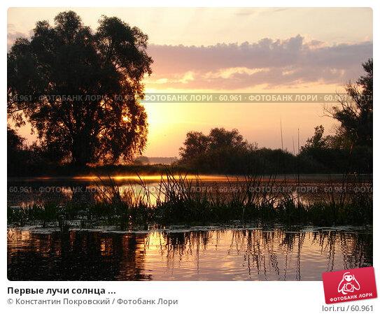 Первые лучи солнца ..., фото № 60961, снято 8 июля 2006 г. (c) Константин Покровский / Фотобанк Лори