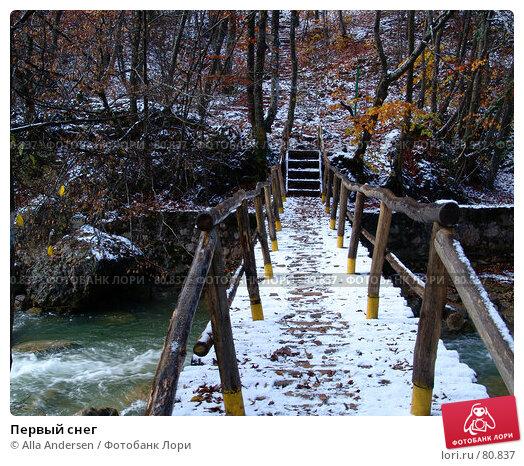 Купить «Первый снег», фото № 80837, снято 5 ноября 2006 г. (c) Alla Andersen / Фотобанк Лори