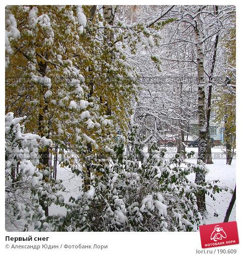 Первый снег, фото № 190609, снято 30 октября 2006 г. (c) Александр Юдин / Фотобанк Лори