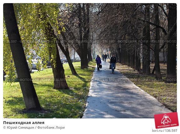 Пешеходная аллея, фото № 136597, снято 2 ноября 2007 г. (c) Юрий Синицын / Фотобанк Лори