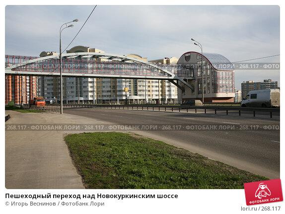 Пешеходный переход над Новокуркинским шоссе, фото № 268117, снято 23 апреля 2008 г. (c) Игорь Веснинов / Фотобанк Лори