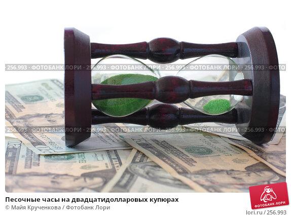 Песочные часы на двадцатидолларовых купюрах, фото № 256993, снято 16 апреля 2008 г. (c) Майя Крученкова / Фотобанк Лори