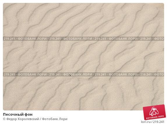 Купить «Песочный фон», фото № 219241, снято 10 июля 2007 г. (c) Федор Королевский / Фотобанк Лори
