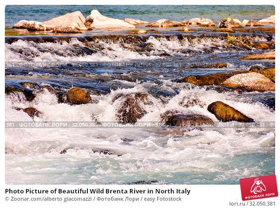 Photo Picture of Beautiful Wild Brenta River in North Italy. Стоковое фото, фотограф Zoonar.com/alberto giacomazzi / easy Fotostock / Фотобанк Лори
