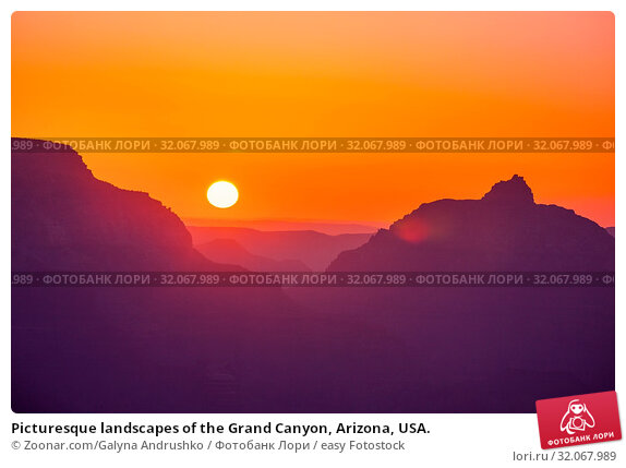Picturesque landscapes of the Grand Canyon, Arizona, USA. Стоковое фото, фотограф Zoonar.com/Galyna Andrushko / easy Fotostock / Фотобанк Лори