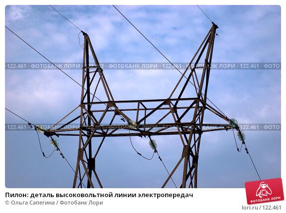 Пилон: деталь высоковольтной линии электропередач, фото № 122461, снято 22 августа 2007 г. (c) Ольга Сапегина / Фотобанк Лори