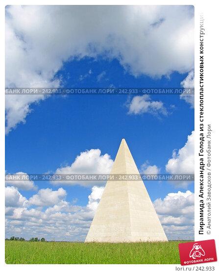 Пирамида Александра Голода из стеклопластиковых конструкций на 38-м километре шоссе Москва-Рига, фото № 242933, снято 30 июня 2004 г. (c) Анатолий Заводсков / Фотобанк Лори