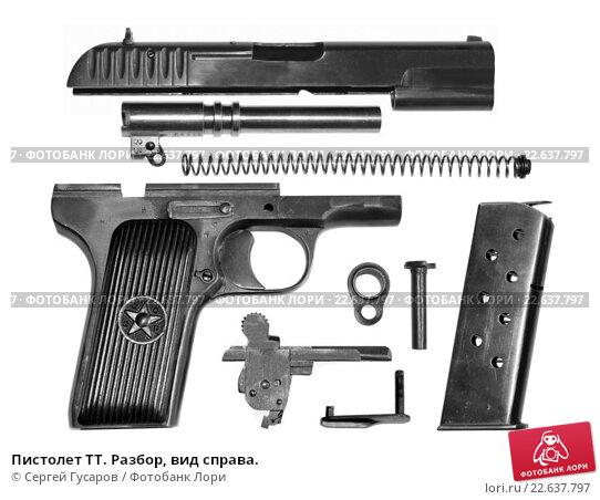 Купить «Пистолет ТТ. Разбор, вид справа.», фото № 22637797, снято 8 ноября 2019 г. (c) Сергей Гусаров / Фотобанк Лори