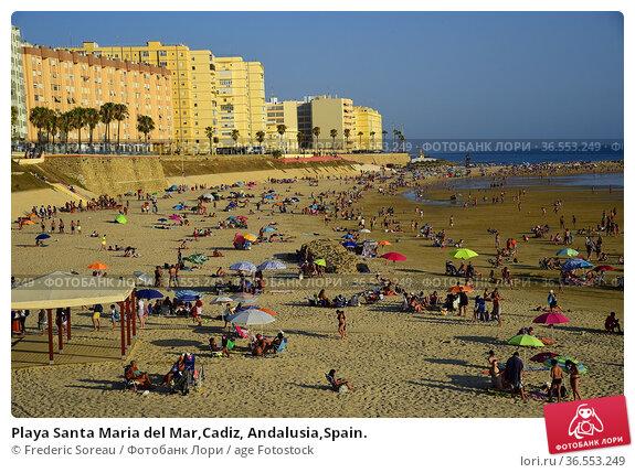 Playa Santa Maria del Mar,Cadiz, Andalusia,Spain. Стоковое фото, фотограф Frederic Soreau / age Fotostock / Фотобанк Лори