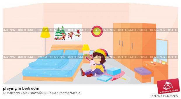 playing in bedroom. Стоковая иллюстрация, иллюстратор Matthew Cole / PantherMedia / Фотобанк Лори