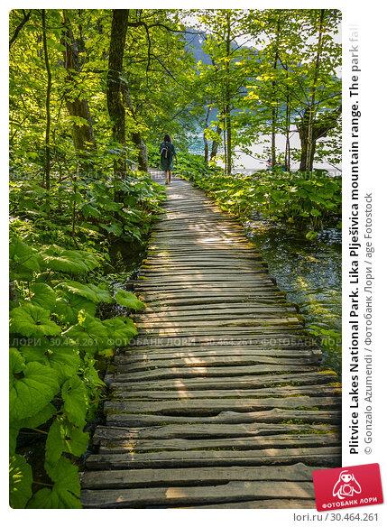 Plitvice Lakes National Park. Lika Plješivica mountain range. The park falls within two counties Lika-Senj and Karlovac. UNESCO World Heritage Site, Croatia. Стоковое фото, фотограф Gonzalo Azumendi / age Fotostock / Фотобанк Лори