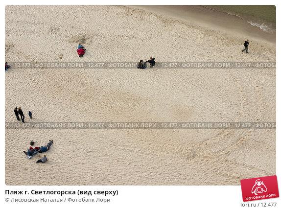 Пляж г. Светлогорска (вид сверху), фото № 12477, снято 30 апреля 2006 г. (c) Лисовская Наталья / Фотобанк Лори