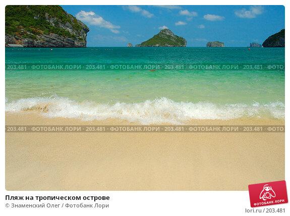 Пляж на тропическом острове, фото № 203481, снято 2 марта 2006 г. (c) Знаменский Олег / Фотобанк Лори