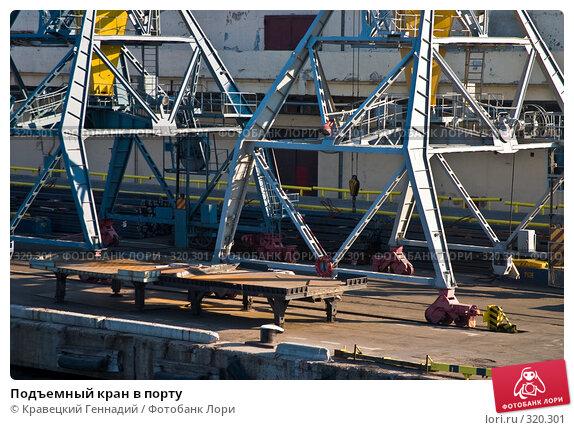 Подъемный кран в порту, фото № 320301, снято 1 мая 2004 г. (c) Кравецкий Геннадий / Фотобанк Лори