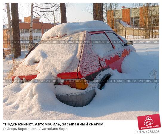 """""""Подснежник"""". Автомобиль, засыпанный снегом., фото № 288305, снято 10 марта 2008 г. (c) Игорь Ворончихин / Фотобанк Лори"""