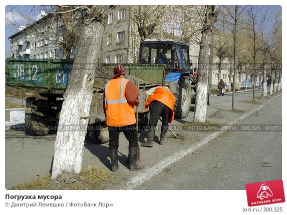 Погрузка мусора, фото № 300325, снято 11 апреля 2008 г. (c) Дмитрий Лемешко / Фотобанк Лори