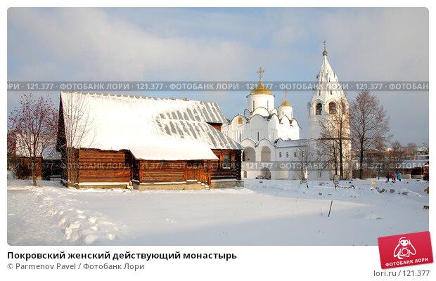 Купить «Покровский женский действующий монастырь», фото № 121377, снято 18 ноября 2007 г. (c) Parmenov Pavel / Фотобанк Лори