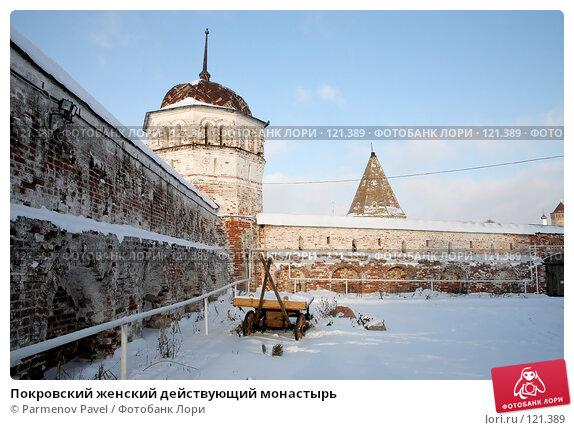 Купить «Покровский женский действующий монастырь», фото № 121389, снято 18 ноября 2007 г. (c) Parmenov Pavel / Фотобанк Лори