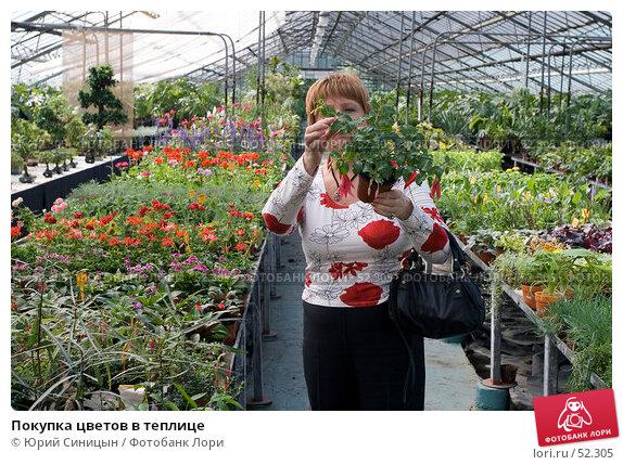 Покупка цветов в теплице, фото № 52305, снято 18 мая 2007 г. (c) Юрий Синицын / Фотобанк Лори