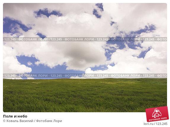 Купить «Поле и небо», фото № 123245, снято 25 апреля 2018 г. (c) Коваль Василий / Фотобанк Лори