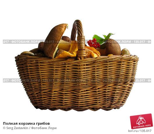 Купить «Полная корзина грибов», фото № 135017, снято 30 июля 2005 г. (c) Serg Zastavkin / Фотобанк Лори