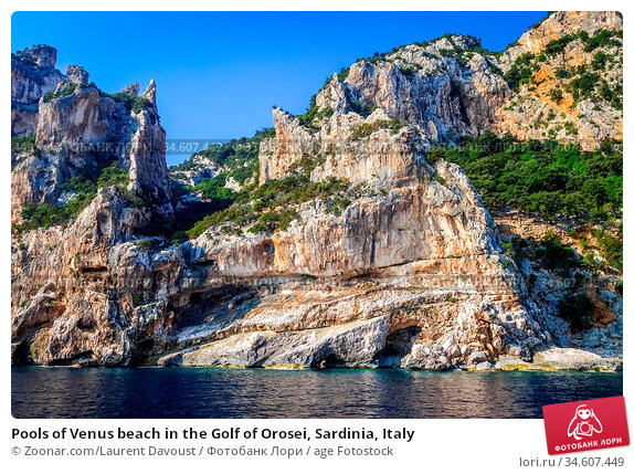 Pools of Venus beach in the Golf of Orosei, Sardinia, Italy. Стоковое фото, фотограф Zoonar.com/Laurent Davoust / age Fotostock / Фотобанк Лори
