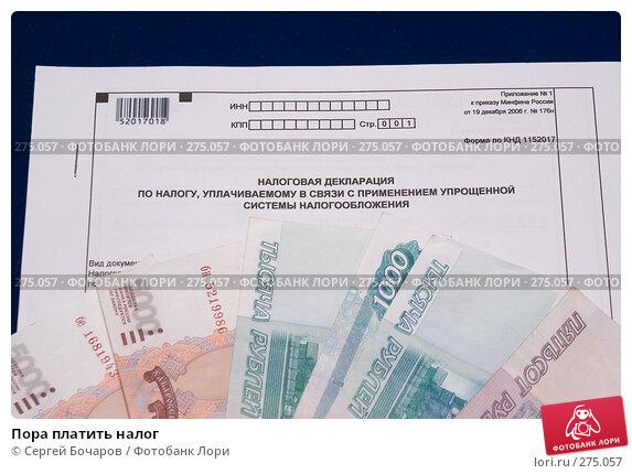 Пора платить налог, фото № 275057, снято 6 мая 2008 г. (c) Сергей Бочаров / Фотобанк Лори