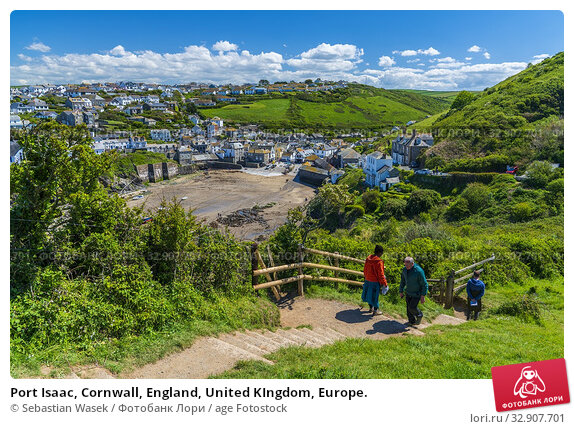 Port Isaac, Cornwall, England, United KIngdom, Europe. Стоковое фото, фотограф Sebastian Wasek / age Fotostock / Фотобанк Лори