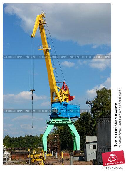 Портовый кран в доке, фото № 78369, снято 12 августа 2006 г. (c) Моисеева Галина / Фотобанк Лори