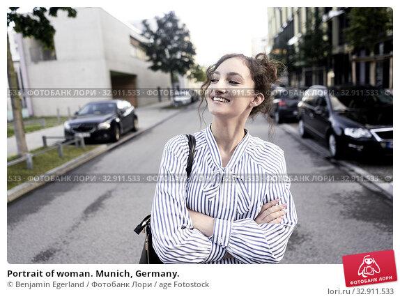 Portrait of woman. Munich, Germany. Стоковое фото, фотограф Benjamin Egerland / age Fotostock / Фотобанк Лори