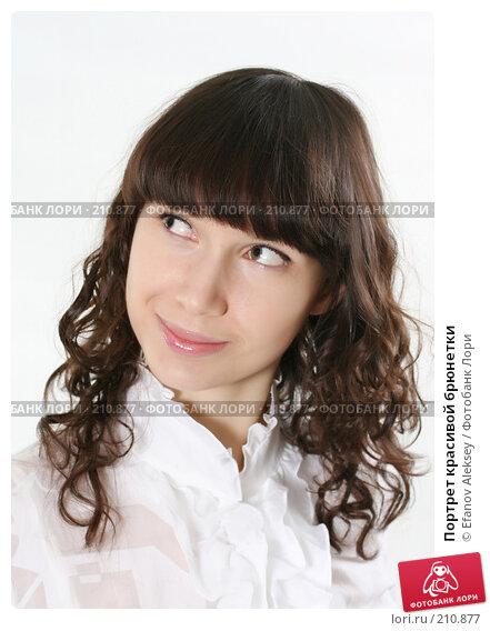 Портрет красивой брюнетки, фото № 210877, снято 23 января 2008 г. (c) Efanov Aleksey / Фотобанк Лори