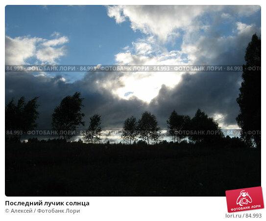 Последний лучик солнца, фото № 84993, снято 7 июля 2007 г. (c) Алексей / Фотобанк Лори