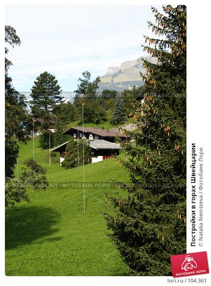 Постройки в горах Швейцарии, эксклюзивное фото № 104361, снято 28 мая 2017 г. (c) Natalia Nemtseva / Фотобанк Лори