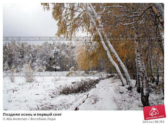 Поздняя осень и первый снег, фото № 99761, снято 16 октября 2007 г. (c) Alla Andersen / Фотобанк Лори