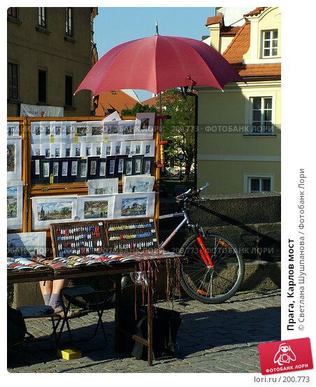 Купить «Прага, Карлов мост», фото № 200773, снято 10 мая 2006 г. (c) Светлана Шушпанова / Фотобанк Лори