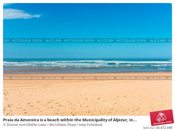 Praia da Amoreira is a beach within the Municipality of Aljezur, in... Стоковое фото, фотограф Zoonar.com/Stefan Laws / easy Fotostock / Фотобанк Лори