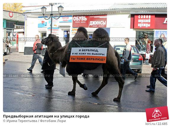 Предвыборная агитация на улицах города, эксклюзивное фото № 22685, снято 30 сентября 2005 г. (c) Ирина Терентьева / Фотобанк Лори