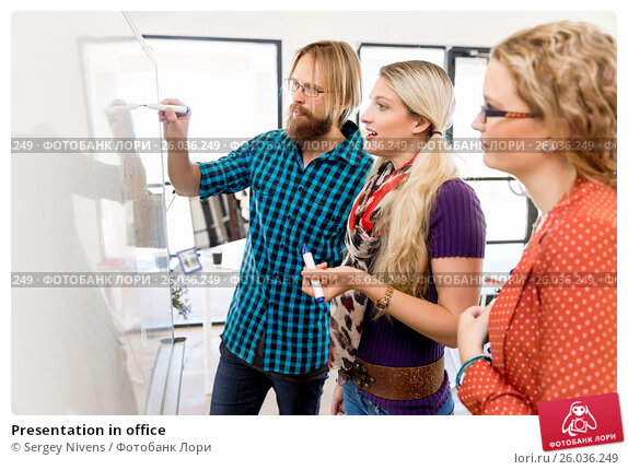 Купить «Presentation in office», фото № 26036249, снято 14 декабря 2014 г. (c) Sergey Nivens / Фотобанк Лори