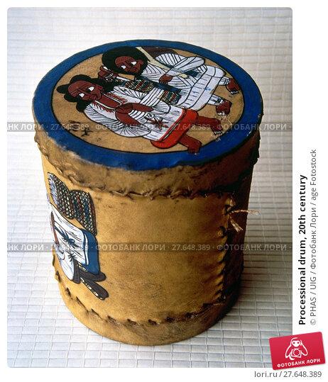 Купить «Processional drum, 20th century», фото № 27648389, снято 17 июля 2019 г. (c) age Fotostock / Фотобанк Лори