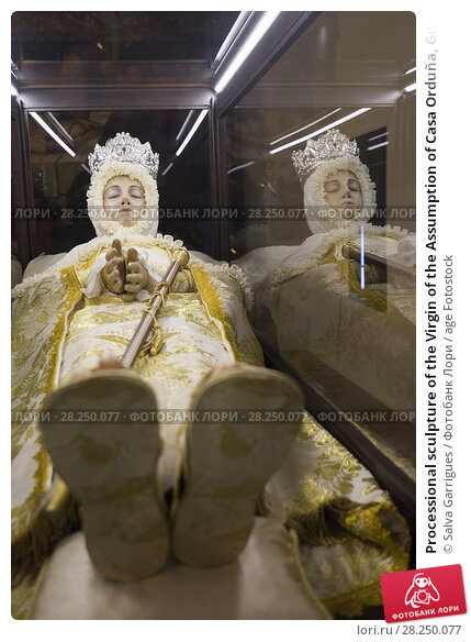 Купить «Processional sculpture of the Virgin of the Assumption of Casa Orduña, Guadalest, Alicante, Spain», фото № 28250077, снято 30 января 2018 г. (c) age Fotostock / Фотобанк Лори
