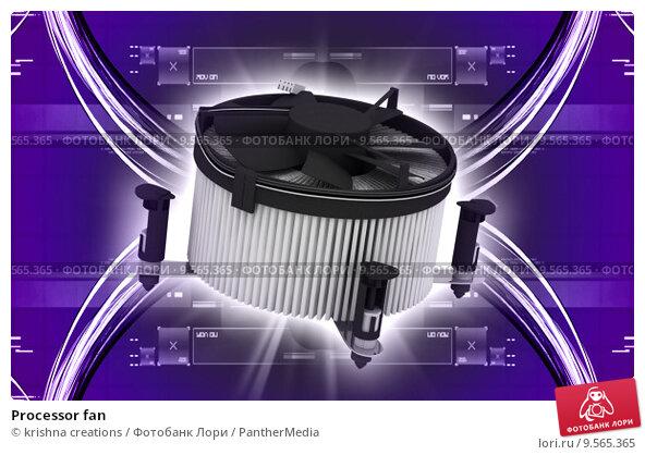 Купить «Processor fan », фото № 9565365, снято 23 февраля 2019 г. (c) PantherMedia / Фотобанк Лори