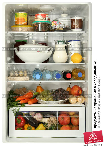 Продукты на хранении в холодильнике, фото № 89165, снято 26 сентября 2007 г. (c) Александр Паррус / Фотобанк Лори
