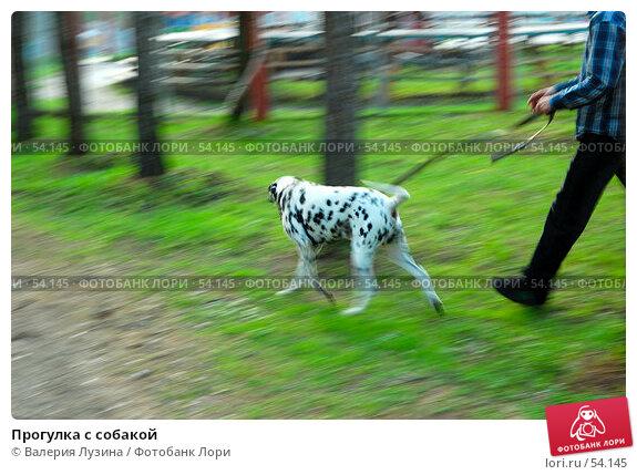 Прогулка с собакой, фото № 54145, снято 20 мая 2007 г. (c) Валерия Потапова / Фотобанк Лори